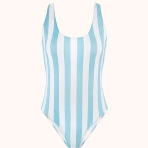 Lively  for Madewell, Striped One piece swimsuit M